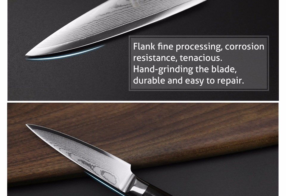 "Buy XINZUO 3.5"" fruit knife Japanese VG10 Damascus stainless steel kitchen knives /paring knife with ebony wood handle FREE SHIPPING cheap"