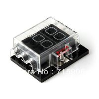 1Piece 6 Way Circuit Car Truck Automotive ATC ATO Blade Fuse Box Holder 32V