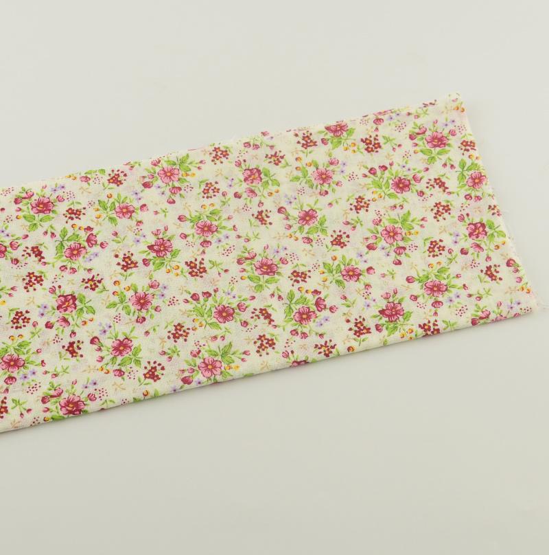 1 piece printed floral designs cotton fabrics crafts tecido textile white pre-cut fat quarter 50cmx50cm sewing cloth patchwork(China (Mainland))