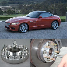 4pcs New Billet 5 Lug 14*1.5 Studs Wheel Spacers Adapters For BMW Z4 E85/E89(China (Mainland))