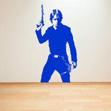 STAR WARS LUKE SKYWALKER vinyl wall art decal sticker room decal sci-fi movie