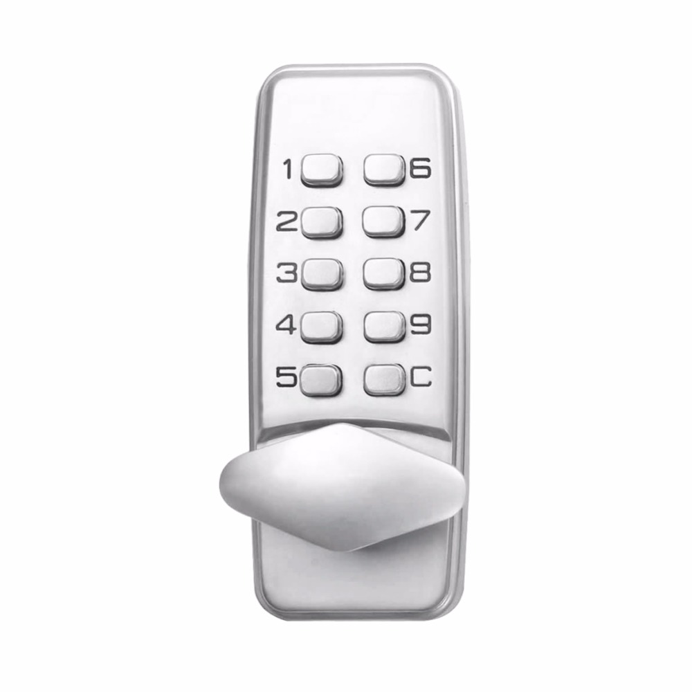 L&S Mechanical Code Lock Digital Machinery Keypad Password Door lock Stainless Steel Latch Zinc Alloy Silver SL16-067S-4(China (Mainland))