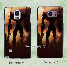 comic evangelion unit one hard black Case Cover for samsung galaxy note 2 3 4 5 s6edge plus