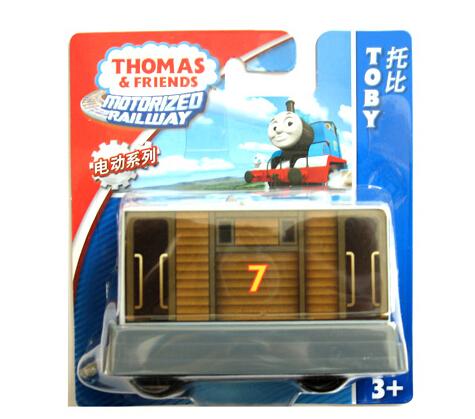 Authorized Thomas & friends Electric locomotive Toby Diecast Metal Thomas hook Plastic metal Railroad Train kids toy(China (Mainland))