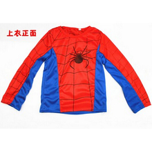 New 2015 Spider Man Children Clothing Sets Fashion Spiderman Cosplay Costume Kids Pajama Sets Long Sleeve
