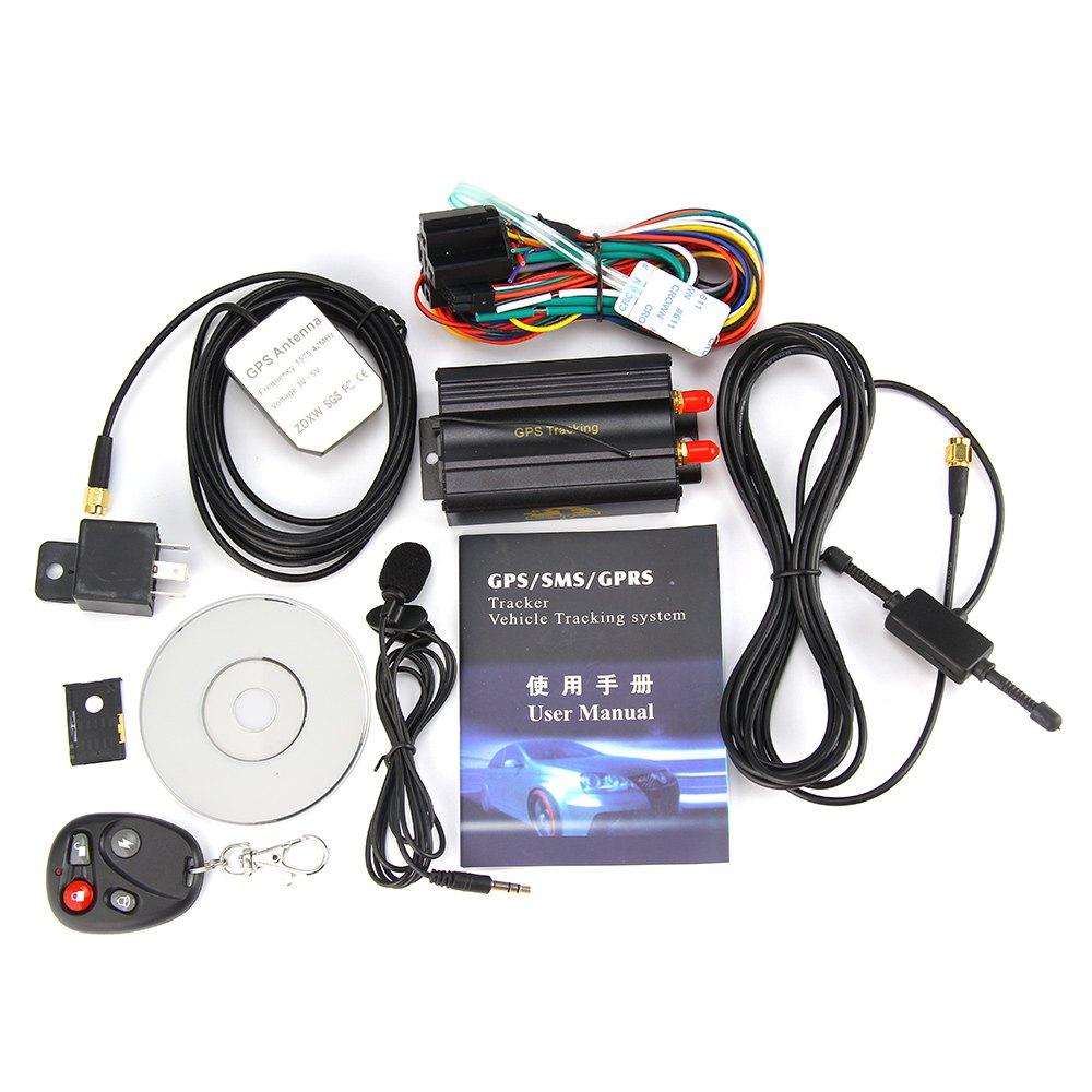 Promotion !!! Car GPS Tracker System GPS GSM GPRS Vehicle Tracker Locator TK103B with Remote Control SD SIM Card Anti-theft(China (Mainland))