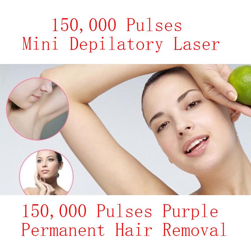 Mini HPL Electric Laser Hair Epilator Depilador Permanent Hair Removal Device Laser Machine Home 150000 Light Pulses Lamp Bikini