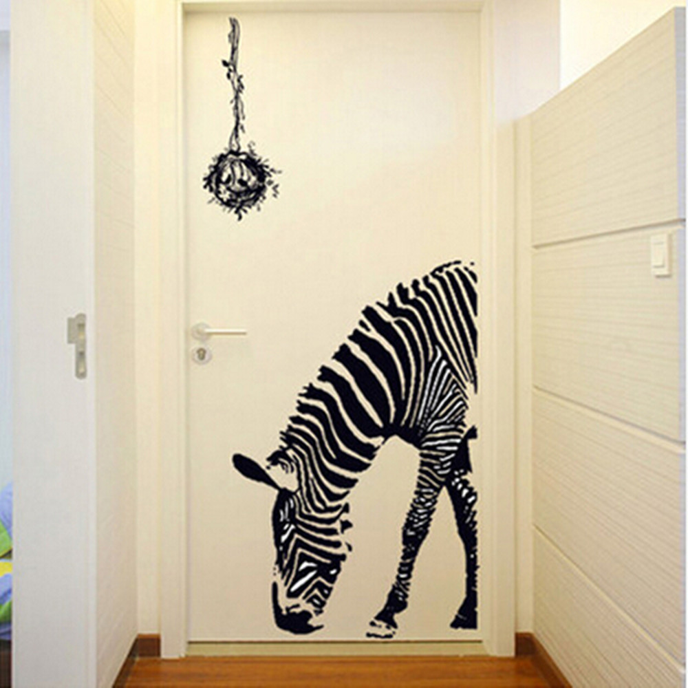 Personalise home decoration Creative wall Sticker zebra pattern suit for Living room and bedroom free shipping(China (Mainland))