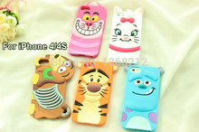Buy 1pcs 3D Cute Cartoon Silicon Case Cover iPhone 4 4S 3D Tigger Marie/Alice Cat Monsters Sulley Slinky Dog Cell Phone Cases for $1.98 in AliExpress store