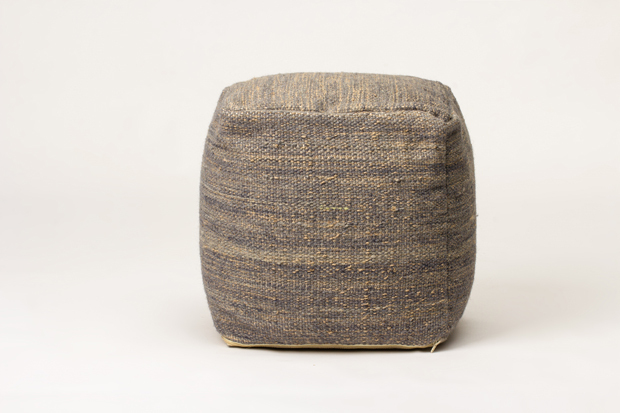 muse pouf with modern design wool surface indian style bench(China (Mainland))
