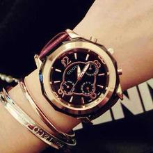Envio Gratis Acero Inoxidable del cuero genuino relojes reloj Original de la mujer de hielo colección Technos Relogio Feminino saati