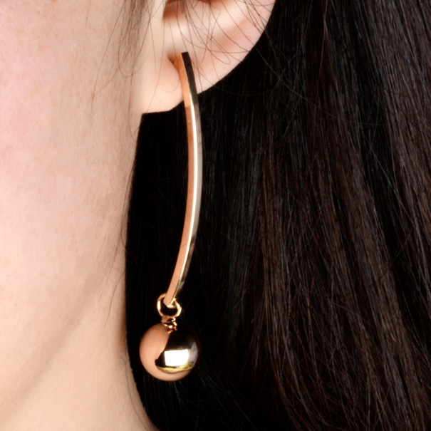 Fashion earrings dangle earrings with gold plating long tassel earrings free shipping(China (Mainland))