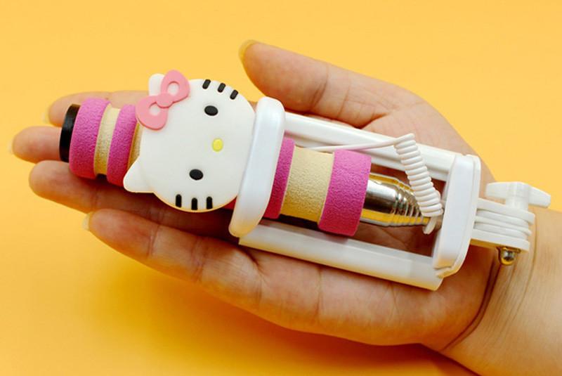 image for Luxury Mini Universal Selfie Stick Monopod For Iphone 6 Plus 5s 4S Wir