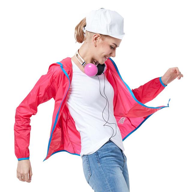 Quick Dry Waterproof Sunscreen Розовый Jacket Женщины Windbreaker Chaquetas Mujer ...