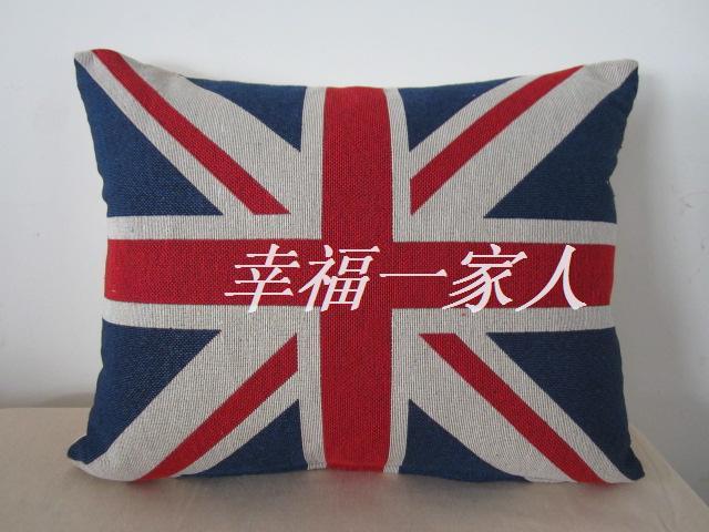 The British flag waist pillow office backrest cushion vehicle waist pillow cushion pillow jacquard fabric ~ m word flag(China (Mainland))