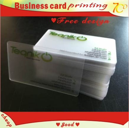 transparent business card PVC semi clear translucent see-through name staff card printing(China (Mainland))(China (Mainland))