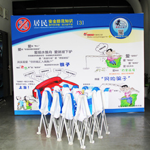 10ft straight trade show display pop up banner stand booth exhibition stand advertising equipment(China (Mainland))