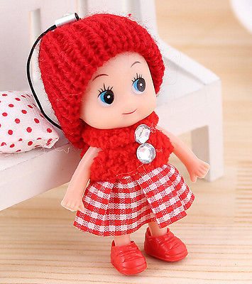 FD1682 Compact Sweet Creative Cute Dolls Girls Mobile Phone Pendant ~8cm Random~ 1pc(China (Mainland))