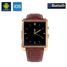 Fashion Luxury Smart Watch DM08 Bluetooth For iPhone 6 For Samsung For LG Android Smartphone waterproof leather waist for man