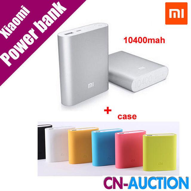 100% первоначально Xiaomi зарядное устройство 10400 мАч Xiaomi 10400 внешнее портативное зарядное устройство Powerbank + силиконовый чехол