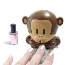 Free Shipping 8 Pieces Monkey Dryer Blower Portable Blowing Nails Dryer Fingernail Dryer Nail Salons Stoving Implement(China (Mainland))