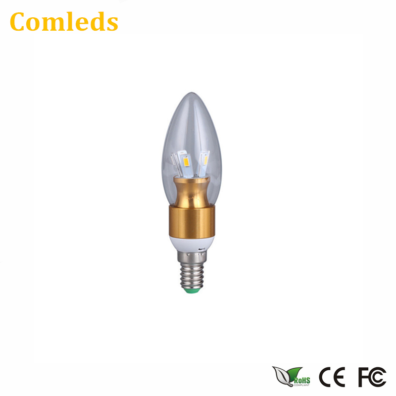 E14-Base Led Bulb Screw Single Light Source 3W/5W Bulb Candle Pull Tail Tip Bulb Home Energy-Saving Chandelier Lamps FB02(China (Mainland))