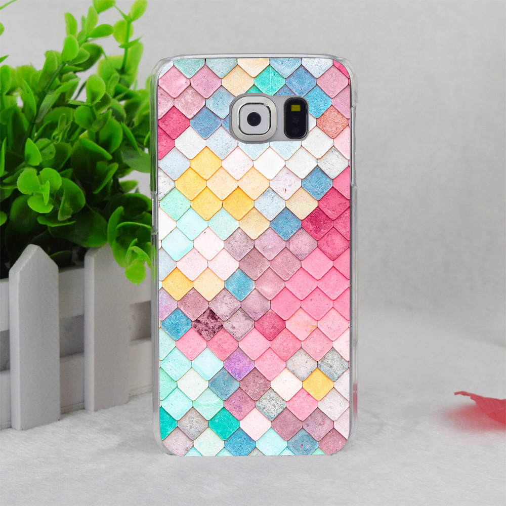 A3779 Colorful Roof Tiles Pattern Transparent Hard Thin Case Cover For Samsung Galaxy S3 S4 S5 S6 S6 Edge S7(China (Mainland))