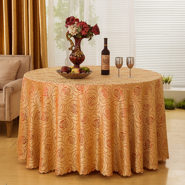 Top Quality Luxury Dining Table Cloth Rectangular Polyester Hotel Tablecloths Wedding Table Cover Jacquard Round Table Linens(China (Mainland))