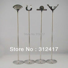 Wholesale 18inch tall stainless steel table number holders wedding , table number stands , table number frame(China (Mainland))