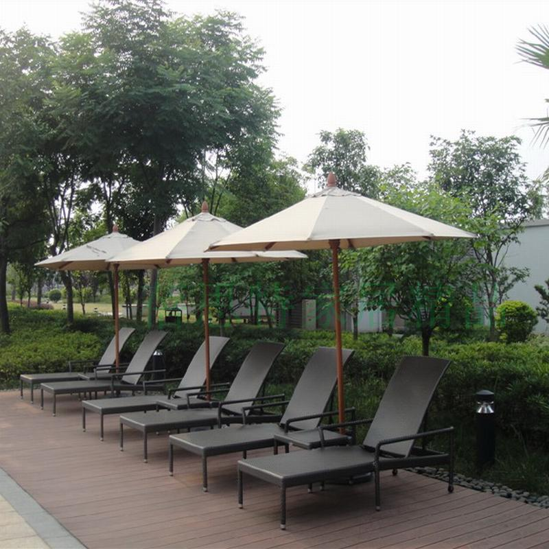 2.7 m in the column umbrella Straight outdoor leisure parasol umbrellas PE Rattan coffee table recliner chairs<br><br>Aliexpress
