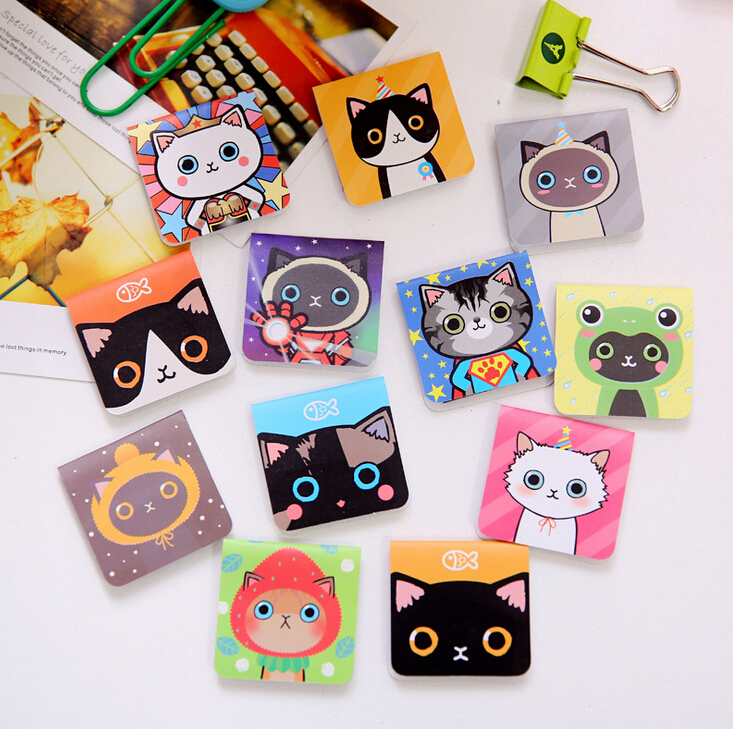 3 pcs/pack Novelty Cats Magnet Bookmark Paper Clip School Office Supply Escolar Papelaria Gift Stationery(China (Mainland))