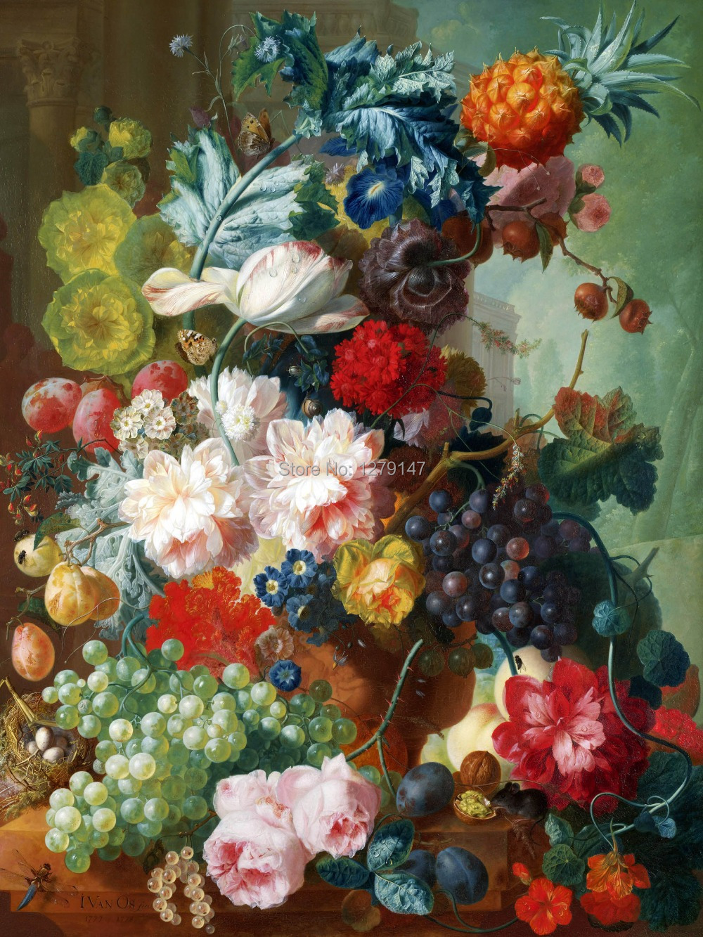 The fruits of harvest paintings Canvas Prints Realistic Oil Painting Picture Printed On Canvas(China (Mainland))