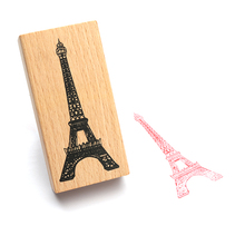 Free Shipping Vintage Classical Paristhe Eiffel Tower Wood Scrapbooking Stamp Wholesale Gift Stamping