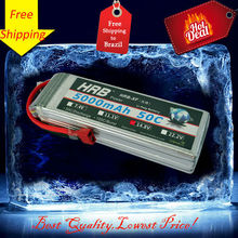 HRB High power 14.8V 5000mAh 50C Max 60C 4S 4Cells RC LiPo Li-Poly Battery for helicopters quadcopters boats cars Free Shipping(China (Mainland))