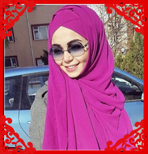 A2  24colors,High quality chiffon long hijab, normal long shawl ,chiffon scarf,180*80cm,10pcs 1lot ,can choose colors(China (Mainland))