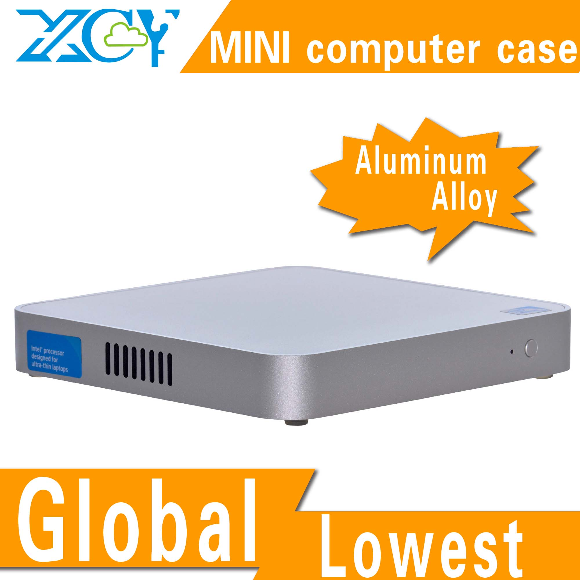 vertical aluminum siding ,pc case atx ,Fanless industrial box PC Emission Low Hot selling!low voltage CPUs! x-26y(China (Mainland))