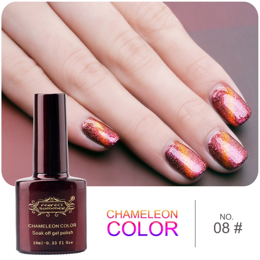 Perfect Summer 3D Cat Eyes Gel Nail Polish Chameleon Glitter design Soak Off uv Gel Lacquer 1 pcs Free Magnet<br><br>Aliexpress