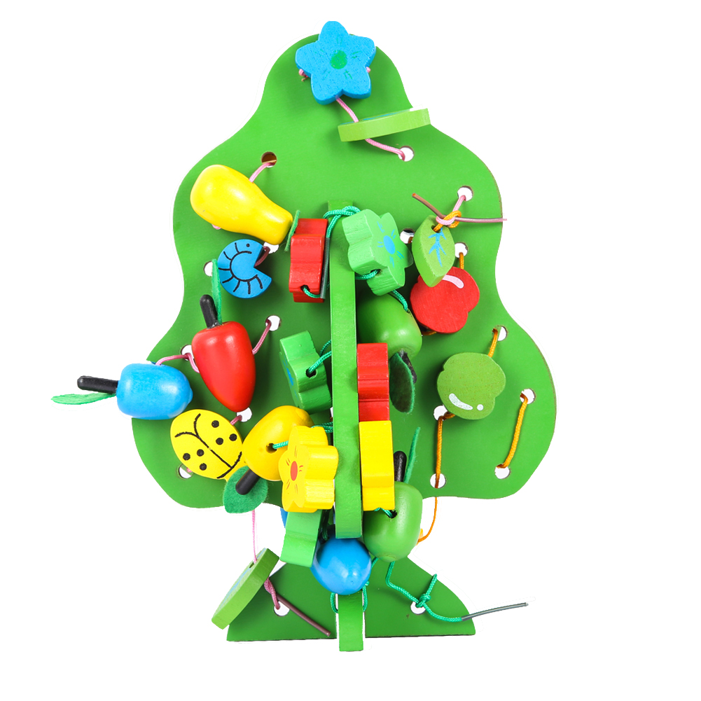 Baby Kids DIY Creature Block Toy Gift Fruit Bunches Music Tree Wood Creature Blocks Assemblage Block Toy for Kids(China (Mainland))