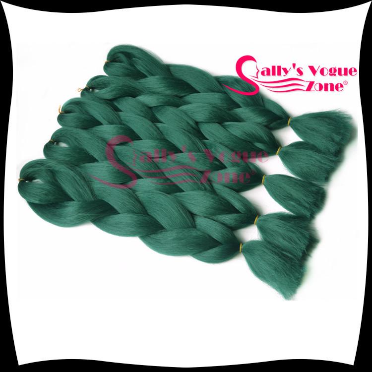 Kanekalon Synthetic Emerald Green Braiding Hair Yaki Afro Kinky Braiding Synthetic Hair Extension Kanekalon Jumbo Hair Braiding(China (Mainland))
