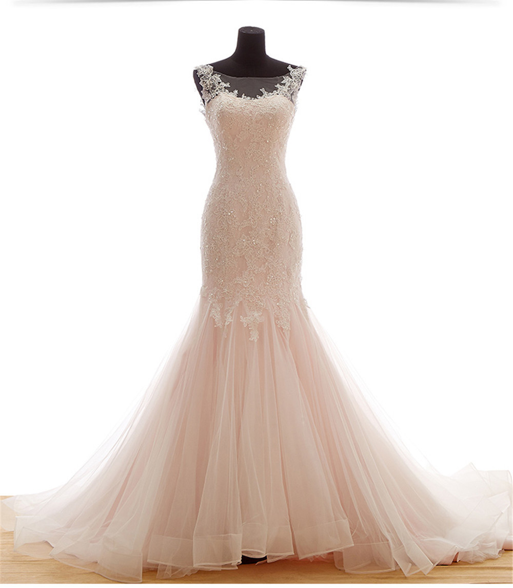 mansa women wedding dress 2015 real sample beaded lace
