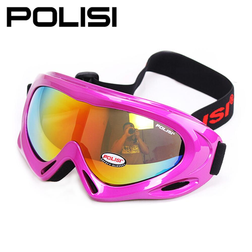 POLISI Men Women Skiing Snow Sled Goggles Optical 100% UV400 Kids Ski Snowboard Glasses Eyewear Free Shipping(China (Mainland))