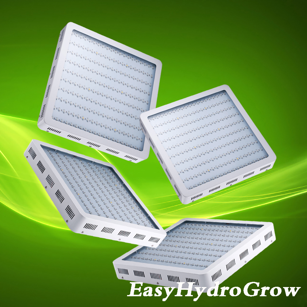4PCS/Pack EasyHydroGrow 1200W Powerful Full Spectrum LED Grow Light Panel For Flowering Plants(China (Mainland))