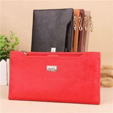 New Fashion Women s Wallet Zipper Long Design Coin Purse Female Colorful Purses Card Holder Leather