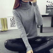 2016 Women Sweaters And Pullovers Hot Sweater Women Winter  turtleneck sweater twisted thickening slim pullover sweater(China (Mainland))