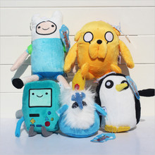 Adventure time Plush Toys 4style Jake Finn Beemo BMO Penguin Gunter Stuffed Animals Plush Dolls Soft Toys Free Shipping HT3043(China (Mainland))