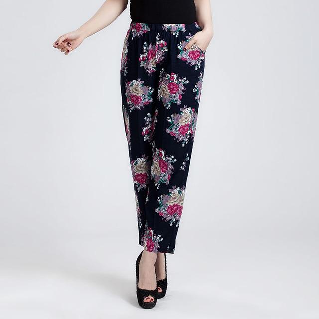 Бесплатная доставка летом девять 2016 новое поступление женские брюки больших размеров ...