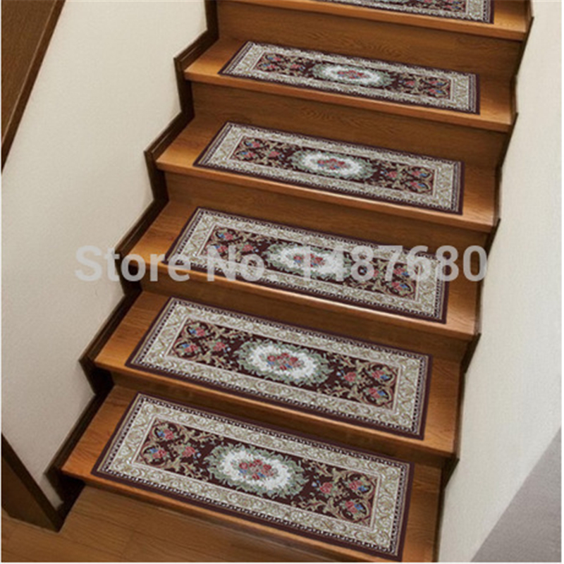 26*75 Stair mat glue sticky MATS from free door stair carpet Home decor Semicirle floor mat kitchen rug peony absorbent doormat(China (Mainland))