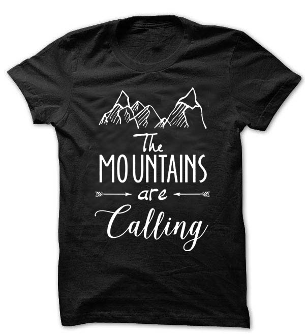 Mountains T Shirt Tees Funny Humor Gift Present Mountain Outdoors Unisex T Shirt T2017 T2017(China (Mainland))