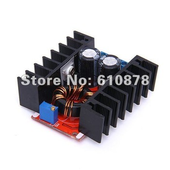 Free Shipping,150W Adjustable DC 10V-32V  to 12V-35V Step up Boost Power Supply Module Component Boost Converter charger 6A