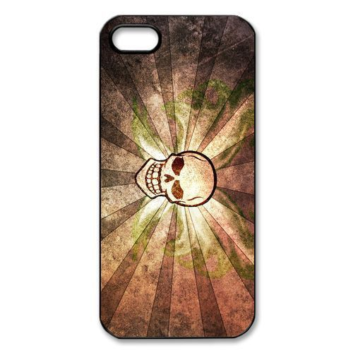 flaming skull art Hard Plastic Back Cover Case for iPhone Phone 4 and 4s(China (Mainland))